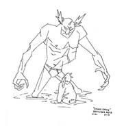 Inktober#29A - Stupid Snake [The Troll] by croovman