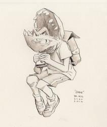 MonsterBoyz No.6 Eddie (Inktober#33) by croovman