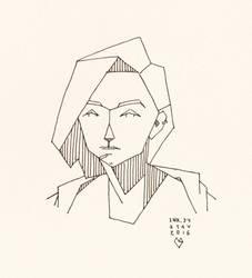 Inktober#34 - Sasha by croovman