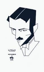 Movember#3 - N. Tesla by croovman
