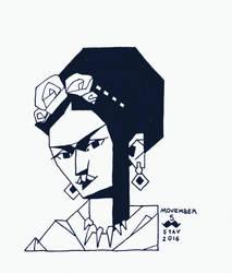 Movember#5 - Frida Kahlo by croovman