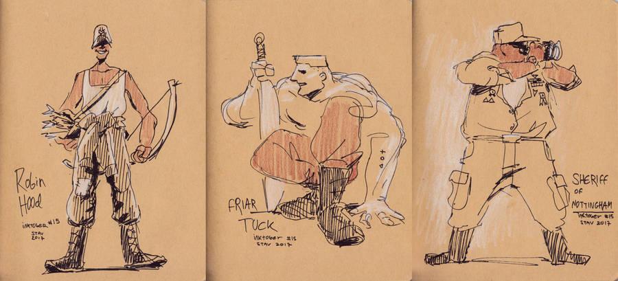 Inktober#15 - Modern Robin Hood by croovman