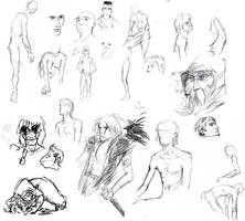 Nudies and Sketchies COMBINED by croovman