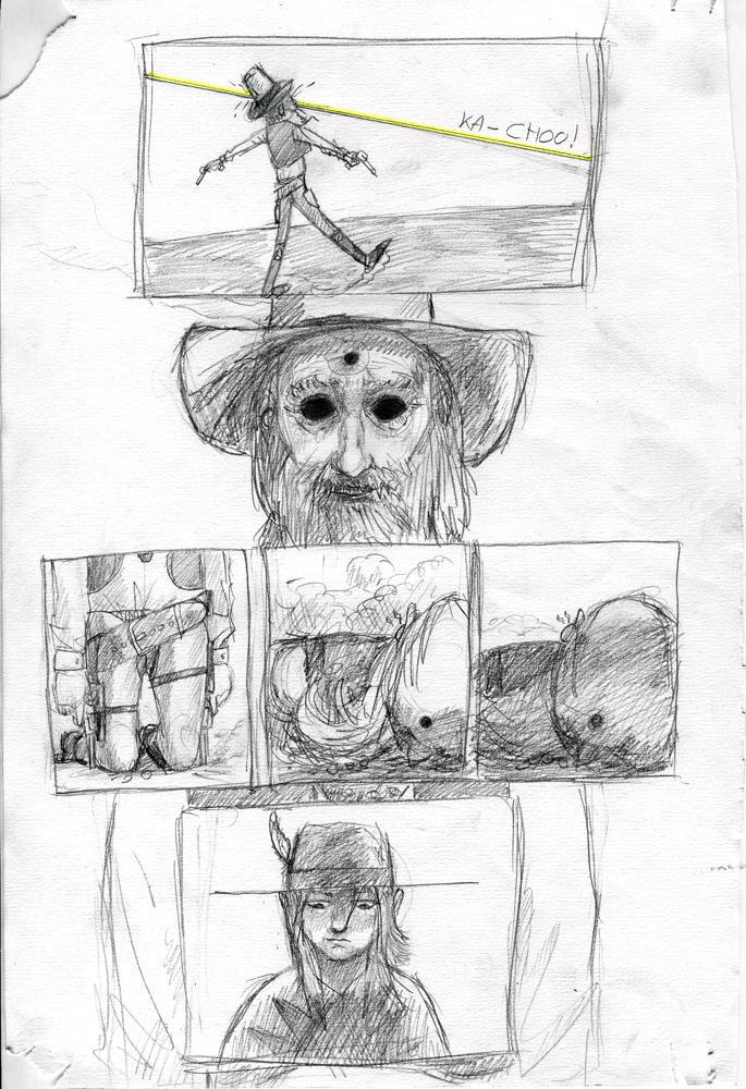 Strange Protagonist Comics p.4 by croovman