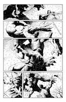 Steele vs Werewolf by Bobann