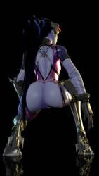 Widowmaker crouching by mavixtious