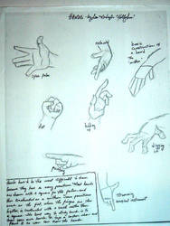 How to draw Hands by crystalinewaters