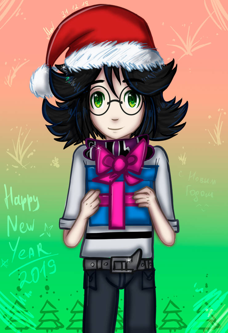 [NewYear2019] Silver and gift for you) by MariaNya54