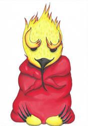 Bird meditation by Mortiegane