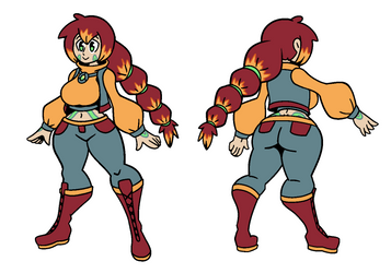 Psychic Gal (Character Design Commission Part 2) by OolongEarlGrey