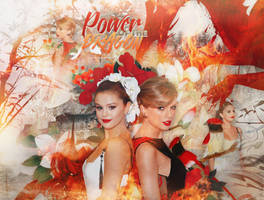 +EDICION: Power of the Dragon | Selena and Taylor by CAMI-CURLES-EDITIONS