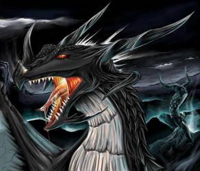 Black dragon by tigergirl2