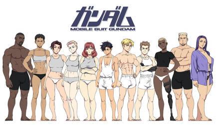 Gundam Project: Cast so far by SNEEDHAM507