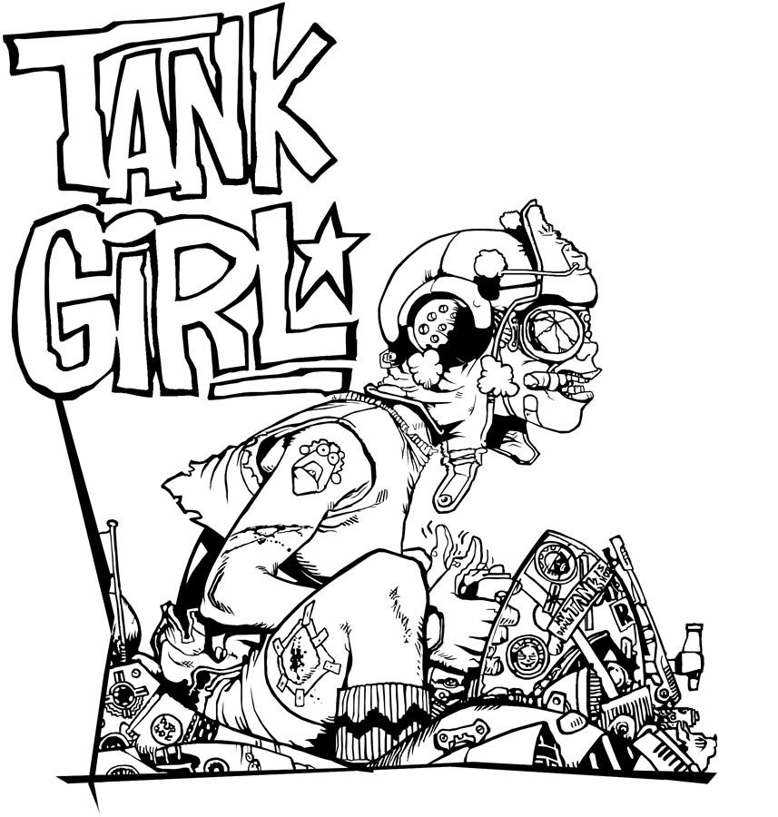 tank girl plete lineart by ctraise on deviantart Tier 1 Tank tank girl plete lineart by ctraise