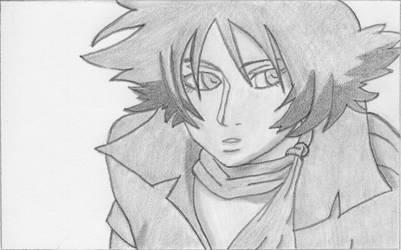 Blue Sketch by Bamzu
