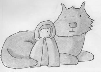 Little Red Sketch by Bamzu