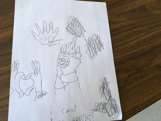Me trying to draw hands... by PearMr
