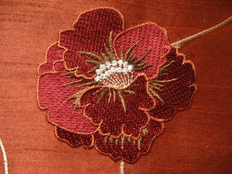 Sewn Asian Flower - stock by rarous-stock