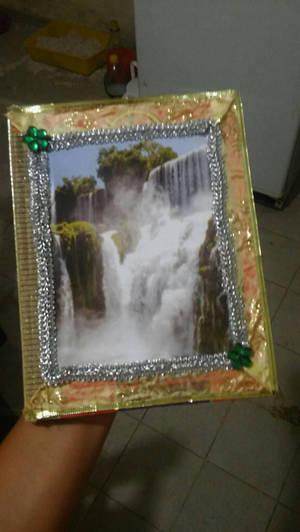 Waterfall frame bookcover by Asurama