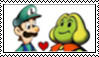 Luigi x Peasley stamp by randommariogirl741