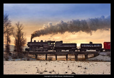 Dawn at Snake Creek Trestle by CheshirePhotographer