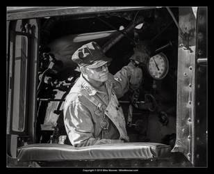 The locomotive fireman by CheshirePhotographer