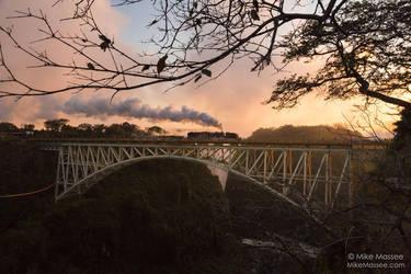 Steam on Victoria Falls Bridge by CheshirePhotographer