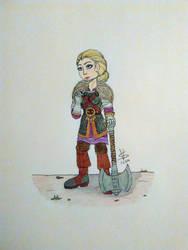 Dwarf lady by ZajdaHB