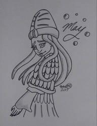 May the Sea Monk (Inktober) by AuroraArt