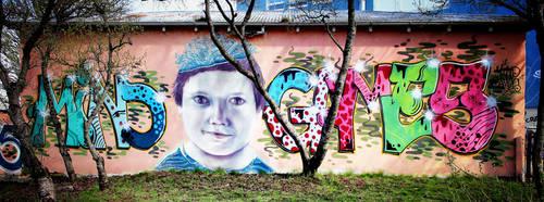 Mural 2, Reykjavik: 'Mind Games' by Coigach