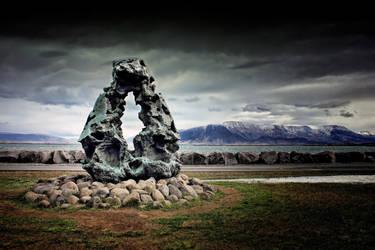 Reykjavik Shoreline 1: Faxa Bay + Mount Esja by Coigach