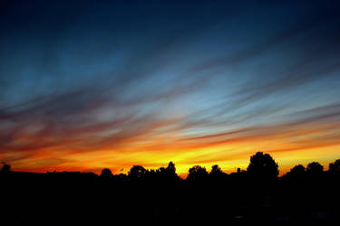 Skyline Glow: Norfolk Sundown by Coigach