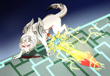 Okami by BloodySilverKitsune