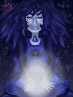 Art Trade: Benitoite by MrGlitter