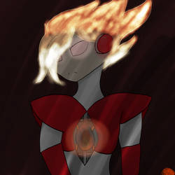 Megaman: Enteral Flame by Jade-and-Blue