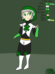 Megaman: Cloverman by Jade-and-Blue