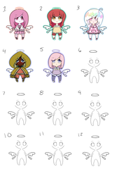 Custom Adopts Batch #8 (ANGEL) [OPEN] (8/12) by MadlyLoveable-Adopts
