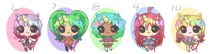 Adopts Batch (Unicorn BBs) #10 [OPEN] (1/5) by MadlyLoveable-Adopts