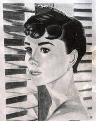 Audrey Hepburn by latchkey-artist