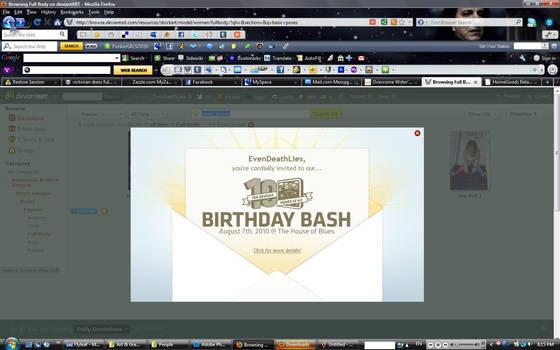 My dA 10th Birthday Invite by EvenDeathLies