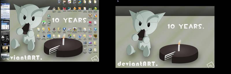 dA 10th B-Day Screenshot by EvenDeathLies