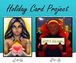 Holiday card comparison meme by Tenshi-Yoru