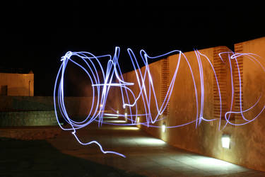 Mi primer grafiti luminoso by aviArt