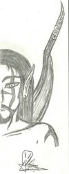 A Warrior Elf by MrChiron