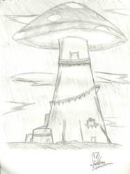 Mushroom Home by MrChiron