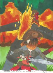 Sauve par le feu - couverture by BasileiaMaxwell