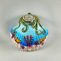 Decorated Seashell by GabriellesBabrielles