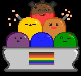 LGBT sundae by Tanukitsune1