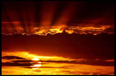 Porthcawl Sunset by fatdeeman