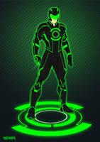 Green Lantern Tron costume by BloodySamoan